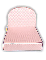 Dog Bed Pet Mats & Pads Solid Blushing Pink Beige