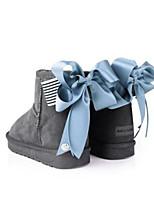 Women's Boots Comfort Cowhide Suede Spring Casual Comfort Dark Brown Gray Black Flat