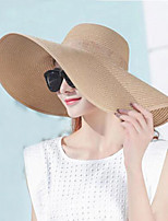 Women's Cotton Straw Sun Hat,Vintage Solid Summer Pure Color