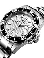 Men's Fashion Watch Mechanical Watch Automatic self-winding Water Resistant / Water Proof Stainless Steel Band Silver Orange