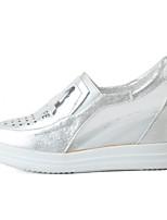 Для женщин Мокасины и Свитер Удобная обувь Тюль Микроволокно Демисезонный Лето Повседневные Для прогулок Удобная обувь На плоской подошве