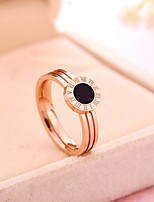 Simple Classic Titanium Steel  Rose Gold Plated Ring  Elegant Jewelry For Wedding Anniversary