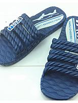 Men's Slippers & Flip-Flops Rubber Spring Gray Blue Screen Color Flat