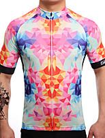 Maillot de Cyclisme Homme Manches courtes Vélo Maillot Séchage rapide Respirable Anti-transpiration Coolmax LYCRA® Classique EtéRose