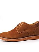 Для мужчин Кеды Удобная обувь Замша Весна Повседневный Черный Синий Верблюжий На плоской подошве