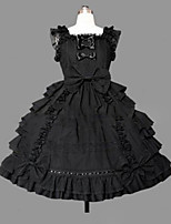 One-Piece/Dress Sweet Lolita Lolita Cosplay Lolita Dress Vintage Cap Sleeveless Short / Mini Dress For Other