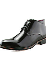 Men's Boots Spring Fall Winter Comfort Leather Casual Black Burgundy Gold