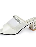 Damen Loafers & Slip-Ons PU Sommer Lässig/Alltäglich Walking Strass Block Ferse Silber Rosa 5 - 7 cm