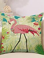 1 Pcs Vintage Tropical Ostrich Printing Pillow Cover Cotton/Linen Cushion Cover 45*45Cm Classic Pillow Case