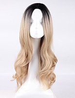 European Wigs Cosplay Wigs Light Golden Gradient Wigs Roses Wigs 26inch