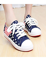 Girls' Sneakers First Walkers Canvas Spring Fall Daily Walking Magic Tape Low Heel Pool Black White Flat
