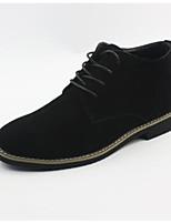 Men's Boots Comfort Suede Spring Casual Comfort Black Gray Brown Flat
