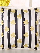 1 Pcs Top Grade Clover Striped Pillow Cover Emulation Silk Pillow Case