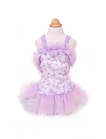 Robe Vêtements pour Chien Mignon Mode Princesse Violet Rose
