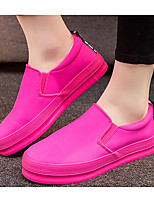 Women's Sneakers Comfort Canvas Spring Casual Fuchsia Black White Flat