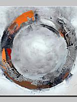Ручная роспись круга абстрактная живопись маслом на холсте картина стены для домашнего украшения с растянутой рамкой, готовой повесить