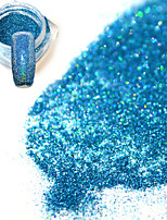 0.2g/bottle Fashion Gorgeous Clear Style Lake Blue DIY Charm Shining Pigment Shining Decoration Nail Art Glitter Holographic Fine Powder JX13