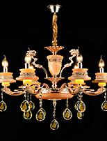 Lampe suspendue Alliage de Zinc Fonctionnalité for Cristal Style mini Métal 6 ampoules