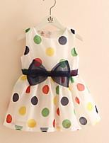 Polka Dot Bowknot Sundress  Children's Princess Dress Children's Wear Clothes Summer 2017 Girls' Baby Sleeveless Vest Dress Skirt Gift