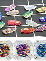 1bottle New Fashion Charming Rainbow Color Sequins Nail Art Glitter Horse Eye Paillette Shining Thin Slice DIY Graceful Decoration Flakes MB01-13