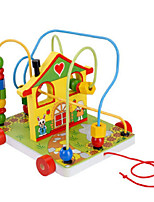 Building Blocks For Gift  Building Blocks House Wood 2 to 4 Years 5 to 7 Years Toys