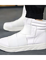 Men's Sneakers Canvas PU Spring White Black Ruby Flat