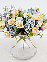 15 Head Artificial Flower Rose Flowers  Bouquet for Home Decor and Wedding Decorations
