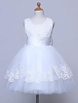 BONJEAN A-line Knee-length Flower Girl Dress Scoop with