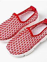 Fille Baskets Premières Chaussures Polyuréthane Printemps Automne Décontracté Premières Chaussures Scotch Magique Talon PlatNoir Rouge