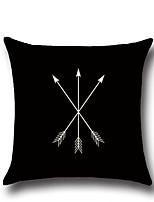 1 Pcs Simple Geometry Arrows Pattern Pillow Cover 45*45Cm Cotton/Linen Pillow Case