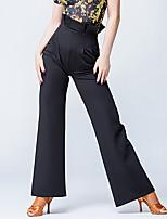 Latin Dance Bottoms Women's Performance Polyester Zipper 1 Piece High Pants