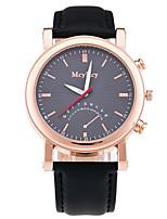 Men's Dress Watch Fashion Watch Chinese Quartz Leather Band Luxury Elegant Casual Black Brown