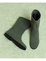 Women's Boots Comfort Suede Spring Casual Screen Color Blue Black Flat