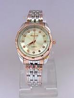 Mulheres Relógio Elegante Relógio de Pulso Quartzo Aço Inoxidável Banda Vintage Prata Ouro Rose