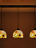 Pendant Light ,  Tiffany Others Feature for Anti-Glare Waterproof Metal Living Room Dining Room Hallway 3 Bulbs