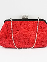 Women Silk Formal Sports Casual Event/Party Wedding Outdoor Office & Career Professioanl Use Evening Bag Ruby