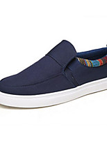 Men's Loafers & Slip-Ons Comfort Canvas Spring Casual Black Ruby Blue Flat
