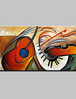 Large Hand-Painted Modern Abstract Musical Instrument Oil Painting On Canvas Wall Art Pictures For Home Decoration Ready To Hang