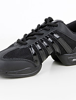 Women's Dance Sneakers Leatherette Synthetic Sneakers Practice Black Customizable