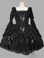 Gothic Lolita Lolita Cosplay Lolita Dress Vintage Cap Long Sleeve Short / Mini Dress For