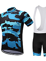 Cycling Jersey with Bib Shorts Men's Short Sleeve Bike Clothing Suits Quick Dry Breathable Compression Sweat-wicking Coolmax LYCRA®