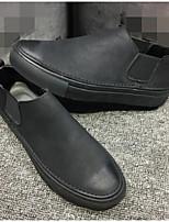 Da uomo Sneakers Scamosciato Primavera Nero Piatto