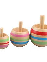 Three wooden gyro