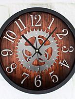 Ретро Настенные часы,Круглый В помещении Часы