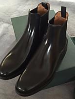 Для женщин Ботинки Удобная обувь Кожа Весна Лето Повседневный На танкетке Черный 2,5 - 4,5 см