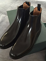 Women's Boots Comfort Cowhide Spring Summer Casual Wedge Heel Black 1in-1 3/4in