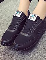 Women's Sneakers Comfort Nubuck leather PU Spring Casual Comfort Blushing Pink Black White Flat