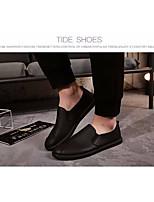 Men's Sneakers Comfort PU Tulle Spring Summer Casual Comfort Black Flat