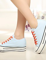Women's Flats Comfort PU Canvas Spring Casual Blue Red Black White Flat