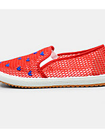 Women's Flats Comfort Fabric Tulle Spring Casual Blue Red Black Flat